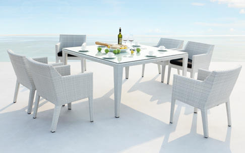 High quality white rattan furniture for White outdoor furniture